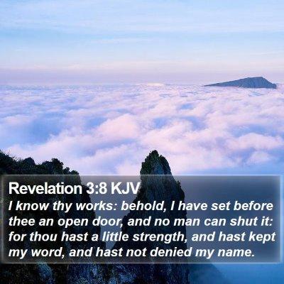 Revelation 3:8 KJV Bible Verse Image