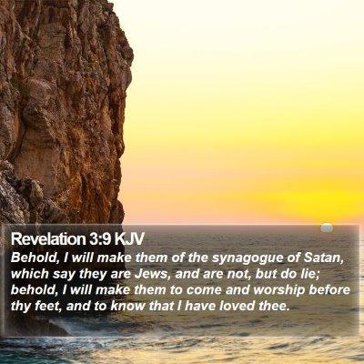 Revelation 3:9 KJV Bible Verse Image