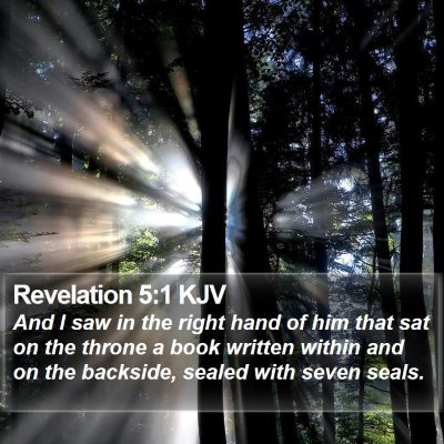 Revelation 5:1 KJV Bible Verse Image