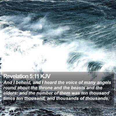 Revelation 5:11 KJV Bible Verse Image