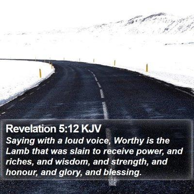 Revelation 5:12 KJV Bible Verse Image
