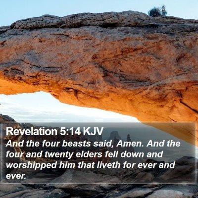 Revelation 5:14 KJV Bible Verse Image