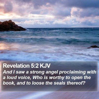 Revelation 5:2 KJV Bible Verse Image