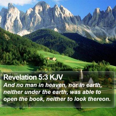 Revelation 5:3 KJV Bible Verse Image