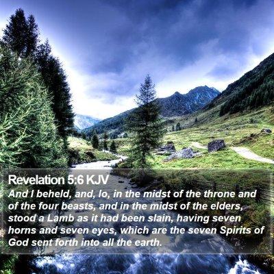 Revelation 5:6 KJV Bible Verse Image