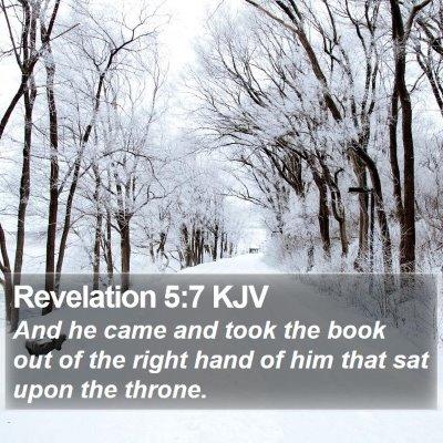 Revelation 5:7 KJV Bible Verse Image