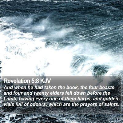 Revelation 5:8 KJV Bible Verse Image
