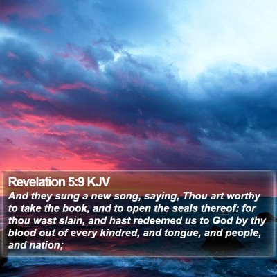 Revelation 5:9 KJV Bible Verse Image