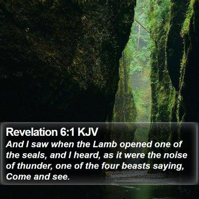 Revelation 6:1 KJV Bible Verse Image