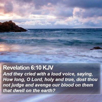 Revelation 6:10 KJV Bible Verse Image