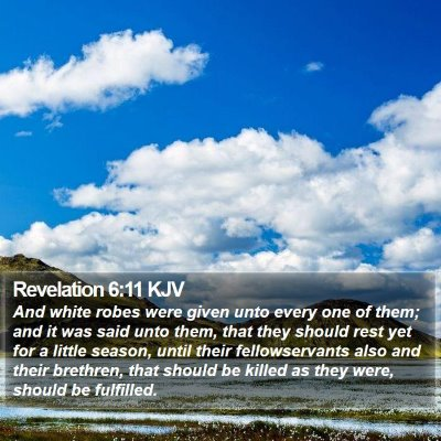 Revelation 6:11 KJV Bible Verse Image