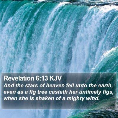 Revelation 6:13 KJV Bible Verse Image