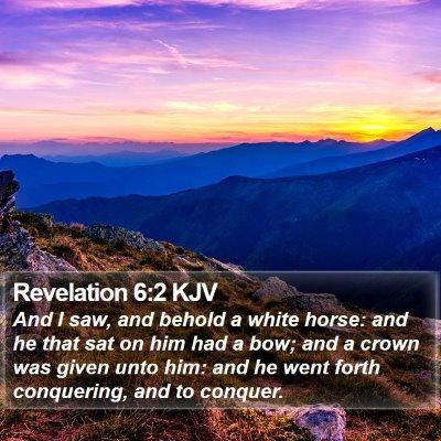 Revelation 6:2 KJV Bible Verse Image