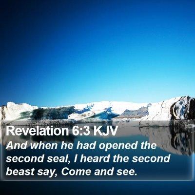 Revelation 6:3 KJV Bible Verse Image