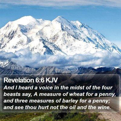 Revelation 6:6 KJV Bible Verse Image