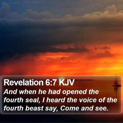 Revelation 6:7 KJV Bible Verse Image
