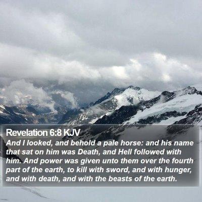 Revelation 6:8 KJV Bible Verse Image