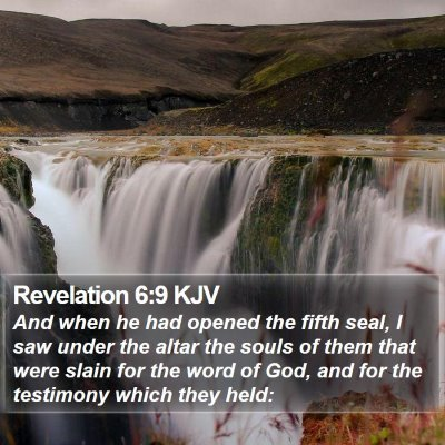 Revelation 6:9 KJV Bible Verse Image