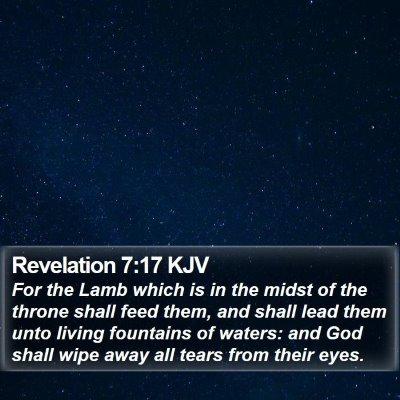 Revelation 7:17 KJV Bible Verse Image