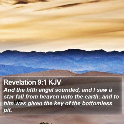 Revelation 9:1 KJV Bible Verse Image