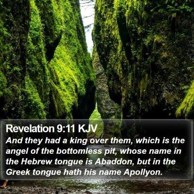 Revelation 9:11 KJV Bible Verse Image