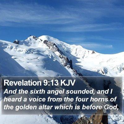 Revelation 9:13 KJV Bible Verse Image
