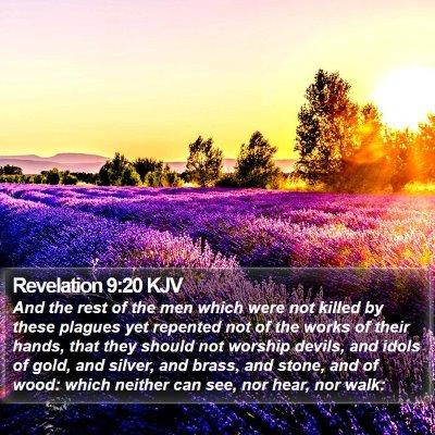 Revelation 9:20 KJV Bible Verse Image