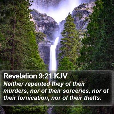 Revelation 9:21 KJV Bible Verse Image