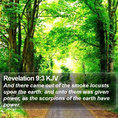 Revelation 9:3 KJV Bible Verse Image
