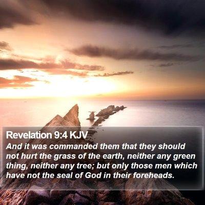 Revelation 9:4 KJV Bible Verse Image