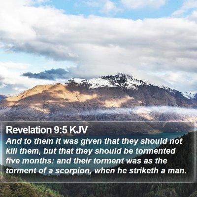 Revelation 9:5 KJV Bible Verse Image
