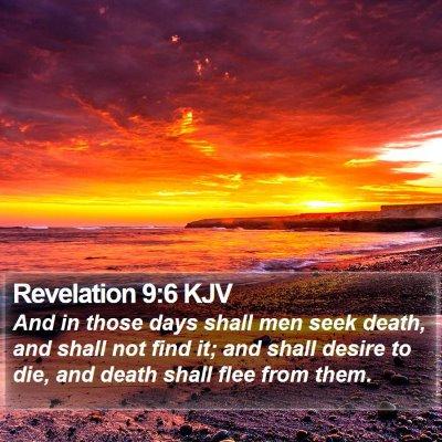 Revelation 9:6 KJV Bible Verse Image