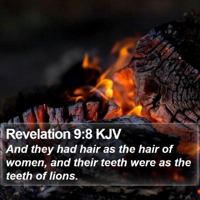 Revelation 9:8 KJV Bible Verse Image