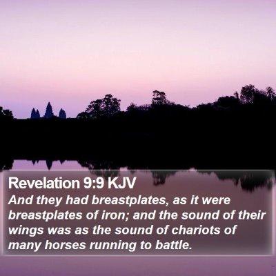 Revelation 9:9 KJV Bible Verse Image