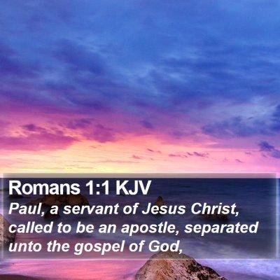 Romans 1:1 KJV Bible Verse Image