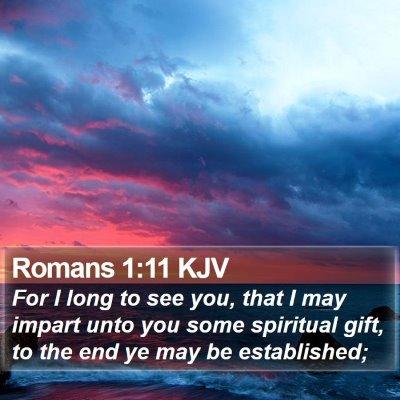 Romans 1:11 KJV Bible Verse Image