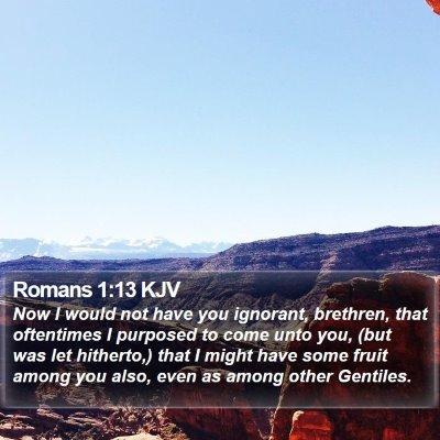 Romans 1:13 KJV Bible Verse Image