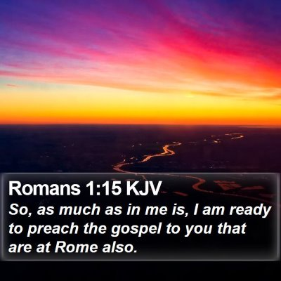 Romans 1:15 KJV Bible Verse Image