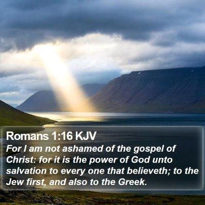 Romans 1:16 KJV Bible Verse Image