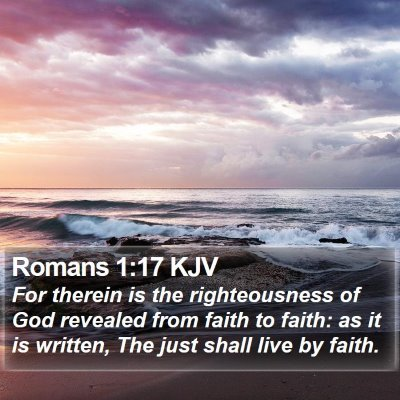 Romans 1:17 KJV Bible Verse Image
