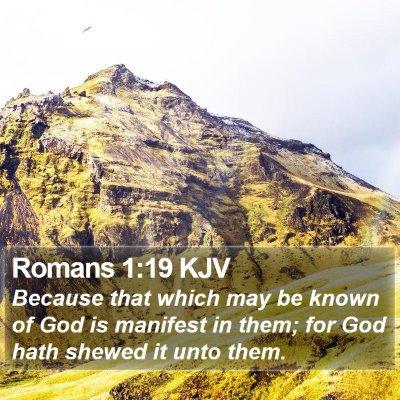 Romans 1:19 KJV Bible Verse Image
