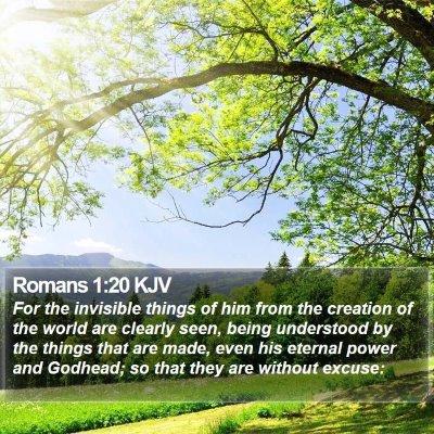 Romans 1:20 KJV Bible Verse Image