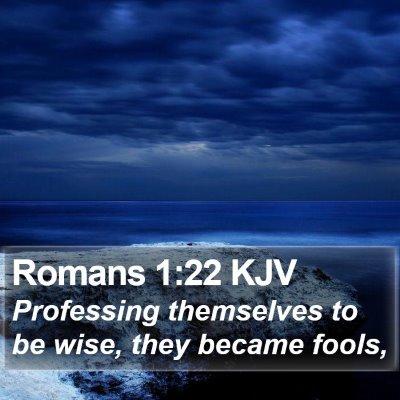 Romans 1:22 KJV Bible Verse Image