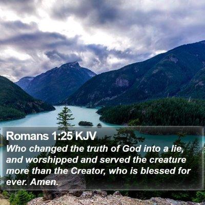 Romans 1:25 KJV Bible Verse Image