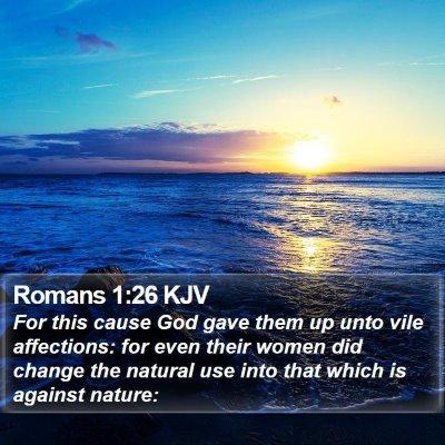 Romans 1:26 KJV Bible Verse Image
