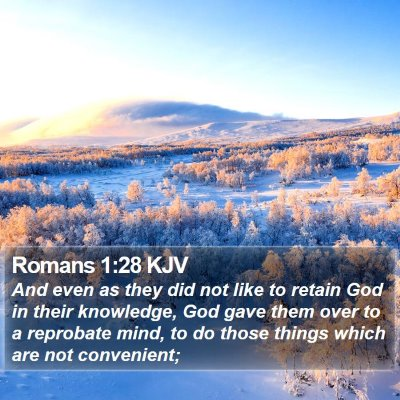 Romans 1:28 KJV Bible Verse Image
