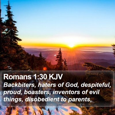 Romans 1:30 KJV Bible Verse Image