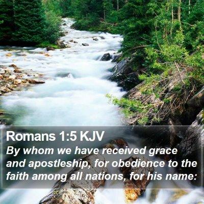 Romans 1:5 KJV Bible Verse Image