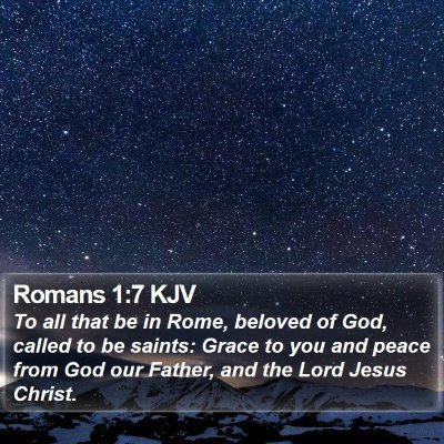 Romans 1:7 KJV Bible Verse Image