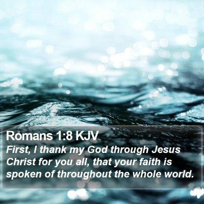 Romans 1:8 KJV Bible Verse Image